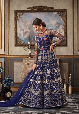 Royal Blue Colour Designer Length Suit