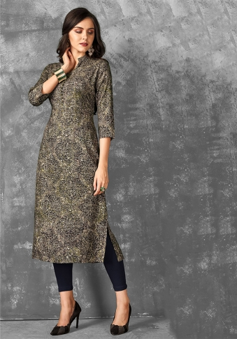 Readymade Kurti For Your Casual Wear In Multi Color Fabricated on Rayon