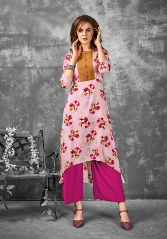 Readymade Kurti For Your Casual Wear In Pink Color Fabricated on Rayon