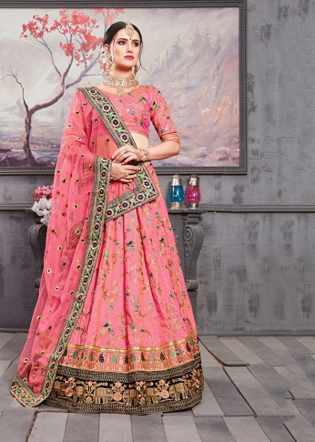 Designer Lehenga Choli For The Wedding Season In All Over Pink Color