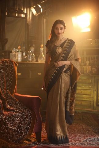 Beige Bengal Handwoven Pure Matka Silk Saree