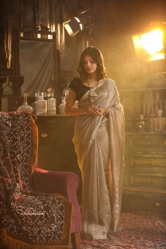 Fine Quality Pure Silk Linen Saree