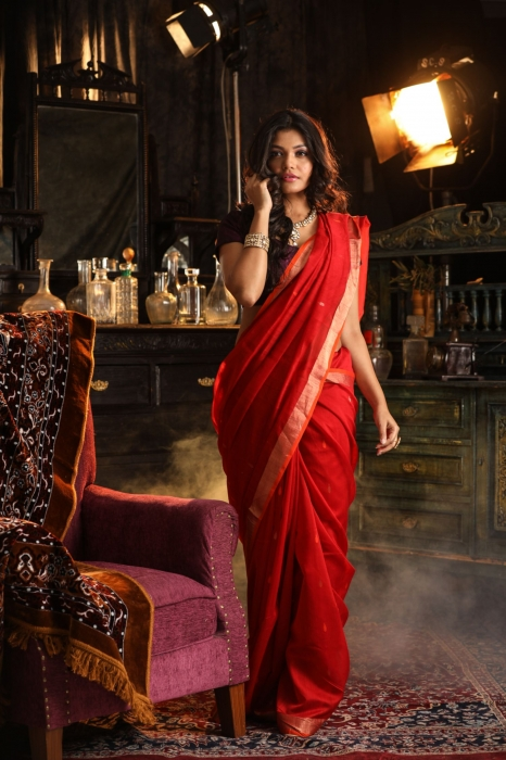 Pure Silk Blended With Soft Cotton  Handspun Saree