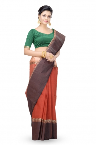 Multicolour Bengal Handwoven Tant Saree Without Blouse 1