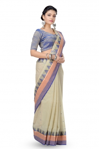 Soil Colour Bengal Handloom Tant Saree With Out Blouse 1