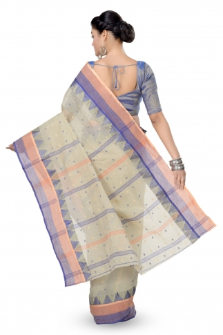 Soil Colour Bengal Handloom Tant Saree With Out Blouse 2
