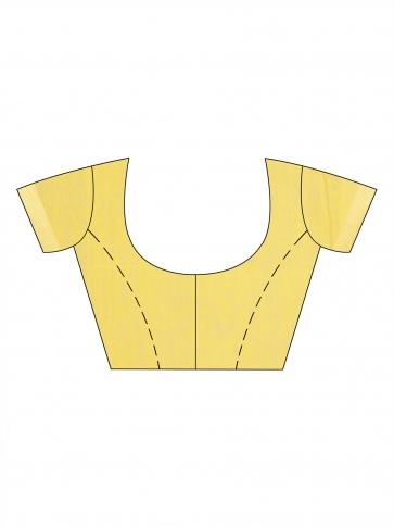 Yellow Silk Cotton Hand Woven Saree 1