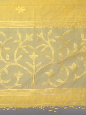 Yellow Silk Cotton Hand Woven Saree 0