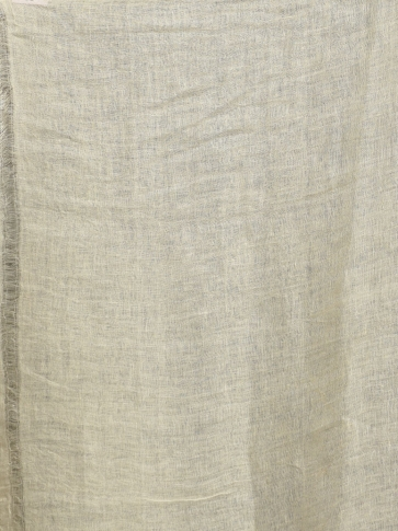 Ivory White Linen Saree With Heart Motifs 2