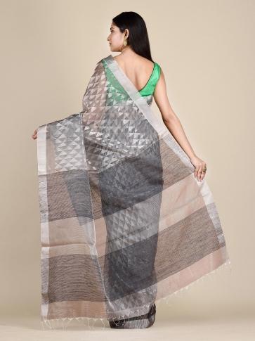 Anchor Grey Matka Silk Saree With Zari Designs 1
