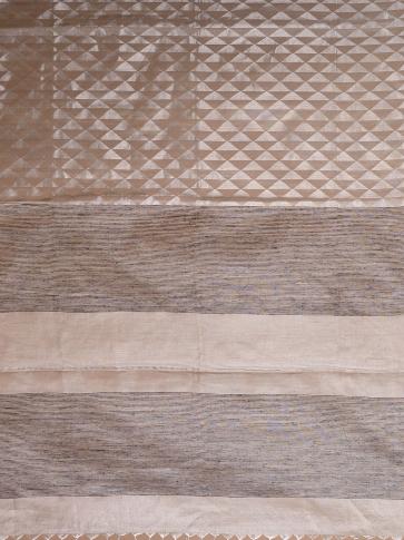 Anchor Grey Matka Silk Saree With Zari Designs 2