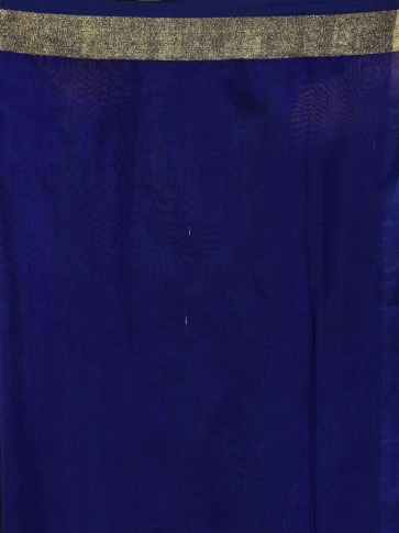 Blue Resham and Muslin hand woven saree with all over work 2