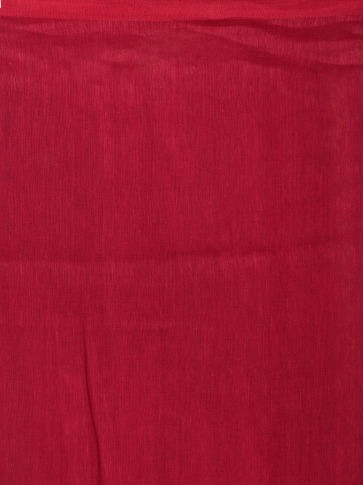 Pink pure linen hand woven saree with zari 2