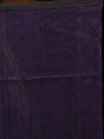 Blue pure linen hand woven saree with zari 2