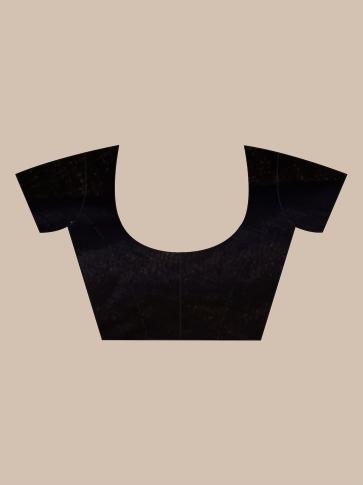 Black Silk Matka handwoven Jamdani saree 0