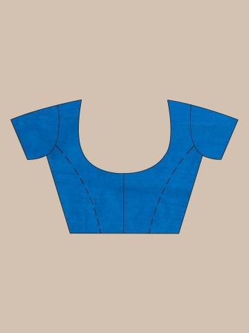 Blue Silk Matka handwoven saree with sequiens 1
