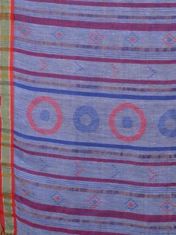 Blue soft handwoven Linen saree 1