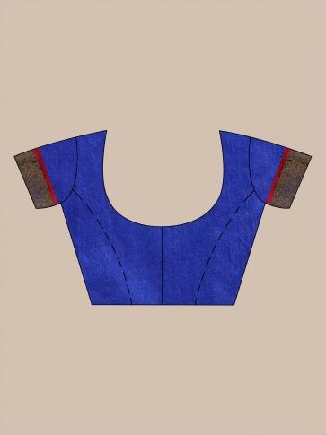 Blue Silk Matka handwoven saree with sequine 0