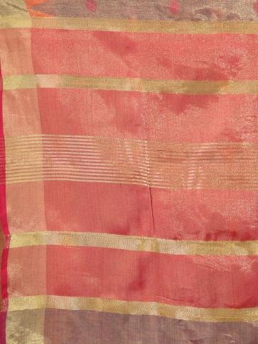 Brown Tissue Linen handwoven saree 2