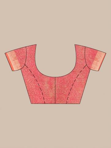 Brown Tissue Linen handwoven saree 0