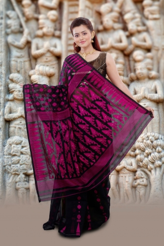 Black Jamdani Saree And Woven Design 2