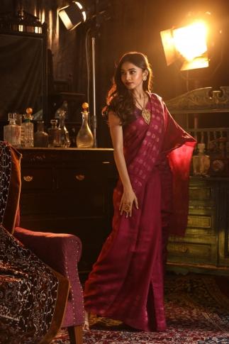 Rani Colour Matka Silk Saree With Zari Work Fabricated on Pure Matka Silk 0
