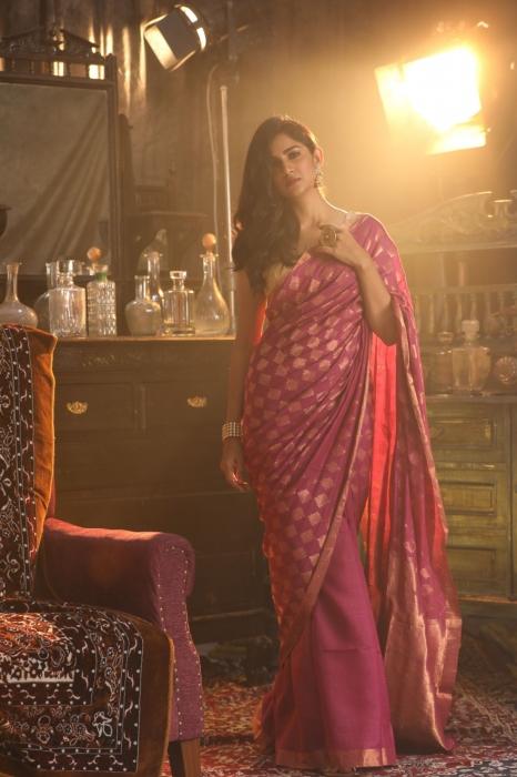 Pink Bengal Hand Woven Saree With Woven Zari Design 1