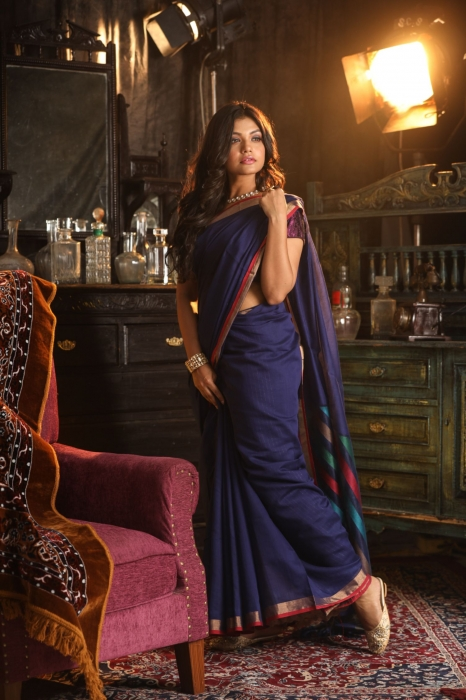 Silk Cotton Handwoven Saree 1