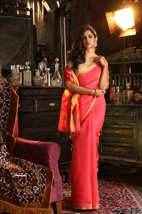 Pure Silk Cotton Handwoven Saree
