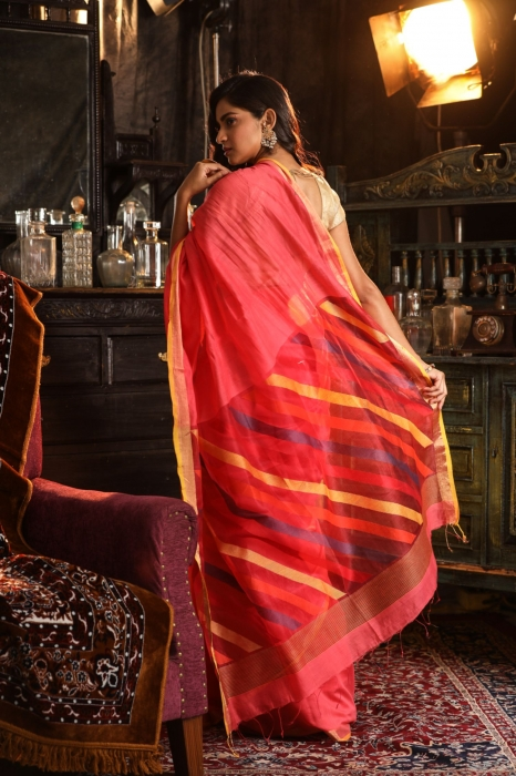 Pure Silk Cotton Handwoven Saree 2