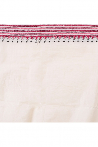 Bengal Handloom Tussar Kantha Saree Work with Red Colour Thread 1