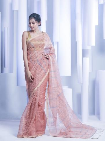 Multicolor Hand woven Silk Cotton Saree with tested zari 0