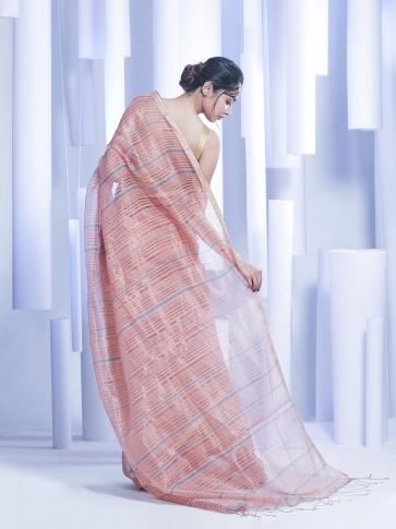 Multicolor Hand woven Silk Cotton Saree with tested zari 1