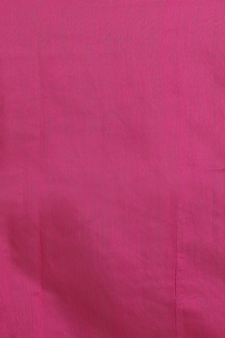 Pink with Ghicha Work Hand Woven Blended Cotton Saree 2