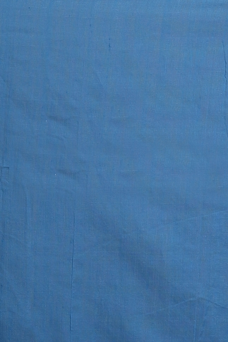 Teal with Ghicha Work Hand Woven Blended Cotton Saree 2