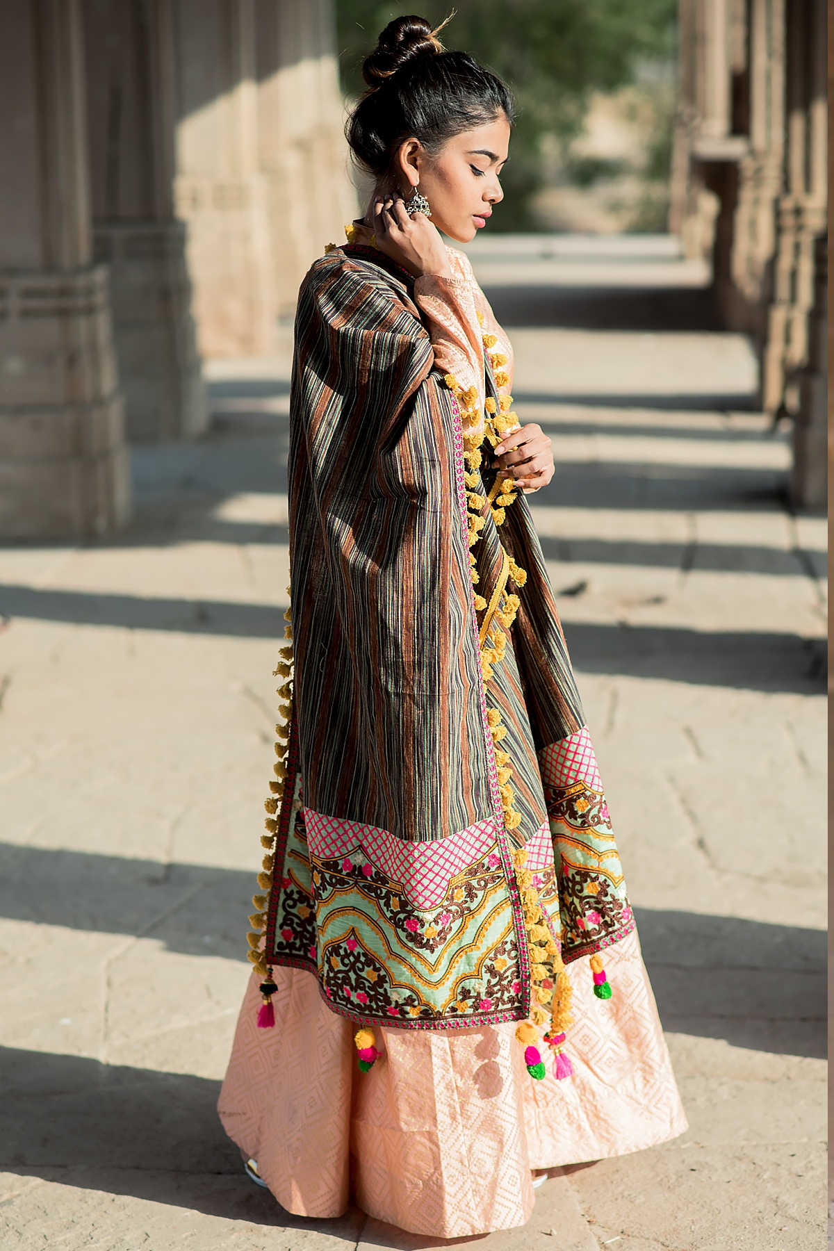 Designer Dupatta In Multi Color