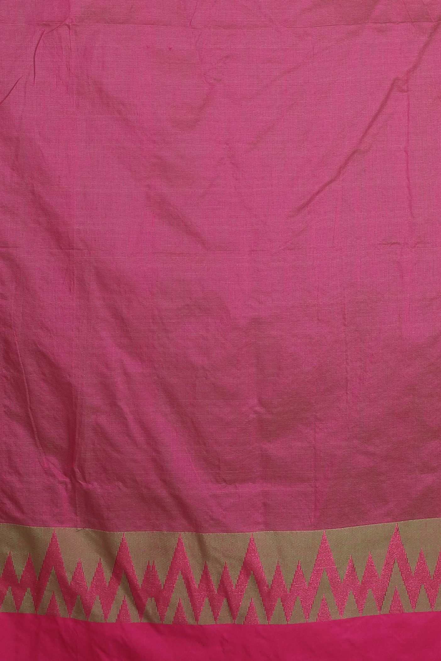 Green and Pink Blended Cotton Saree 2