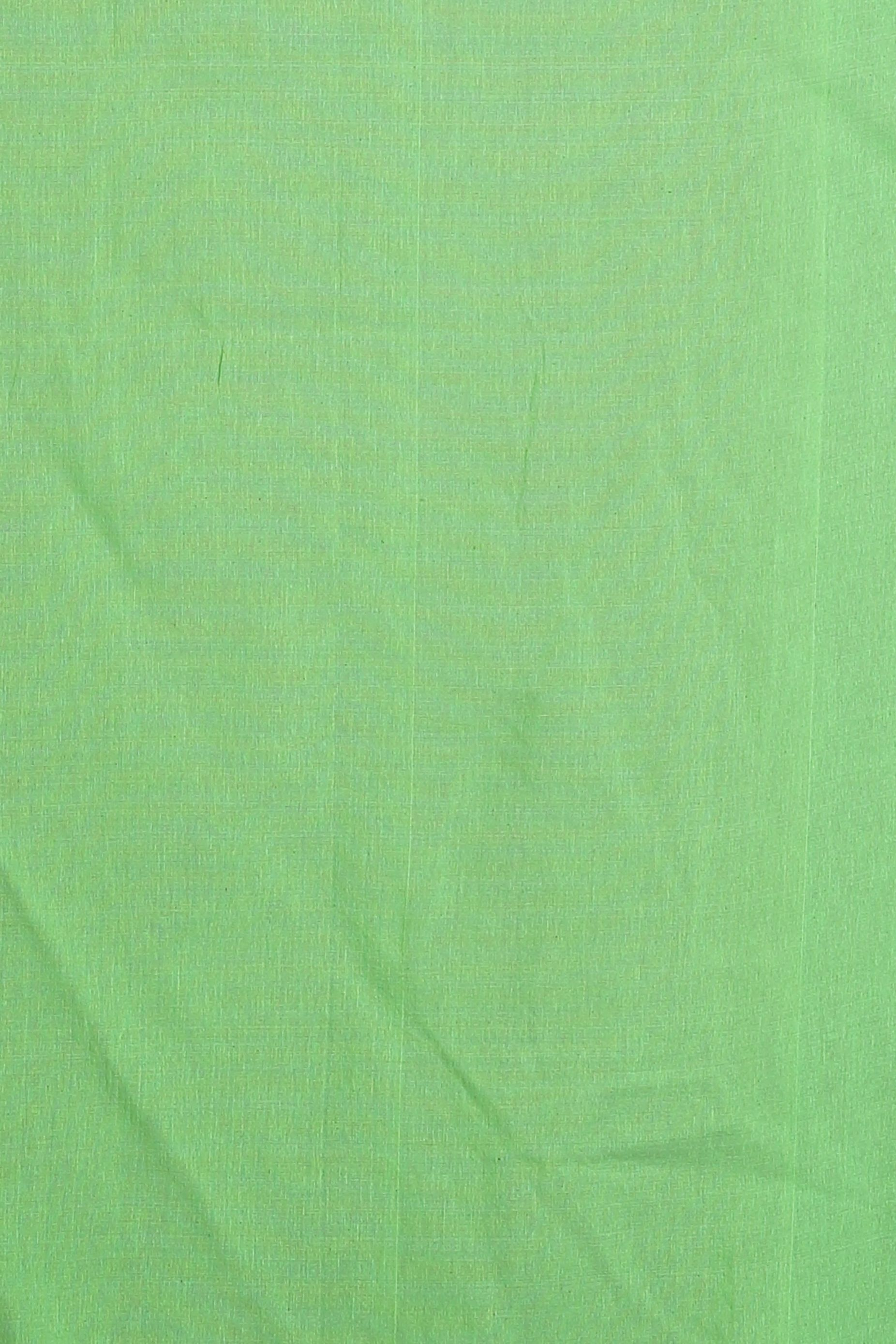 Green & Pink Blended Cotton Saree 2