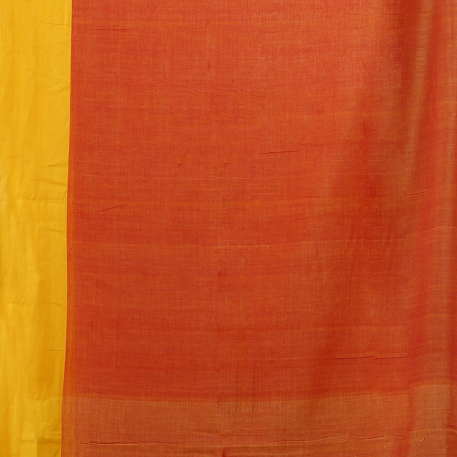 Red and Yellow Border Hand Woven Pure Cotton Saree 0